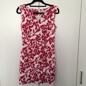 Mia Size 8 Dress Pink & White Floral Print Office